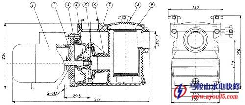离心水泵结构示意图,离心水泵结构图,离心水泵结组成