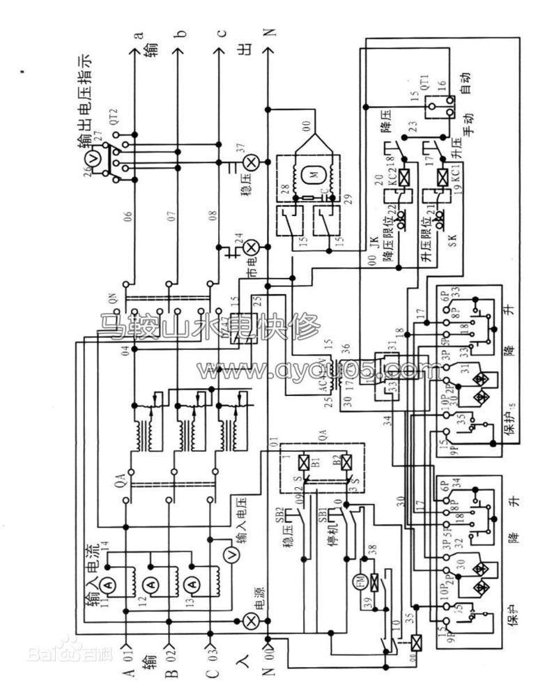 最初的电力稳压器是靠继电器的跳动稳定电压的.